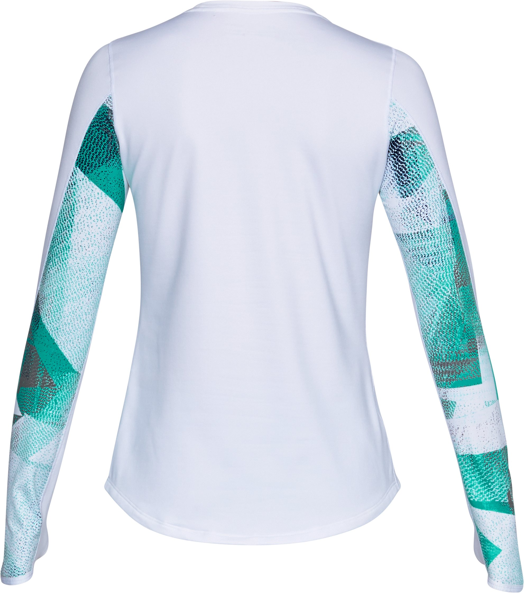 Women's ColdGear® Armour Printed Fitted Crew, White,