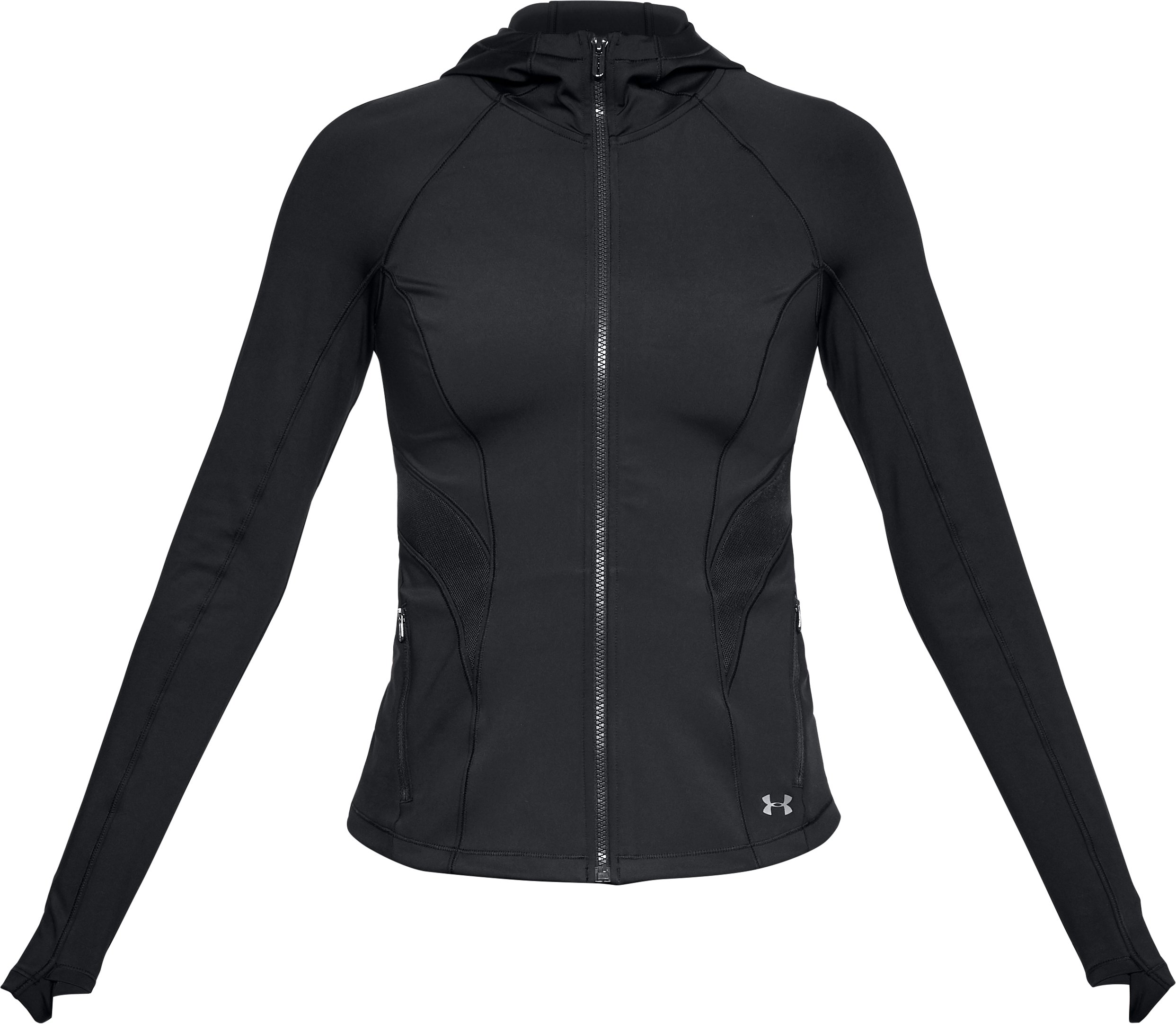 Women's UA Breathelux Full Zip Hoodie, Black , undefined