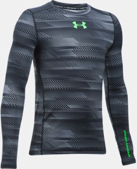Boys' ColdGear® Armour Printed  Crew  3 Colors $49.99