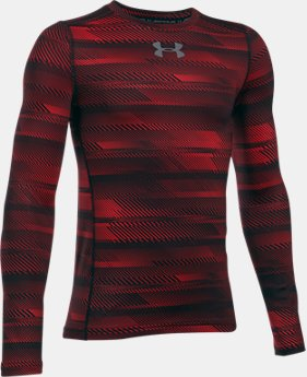 Boys' ColdGear® Armour Printed  Crew  3 Colors $44.99