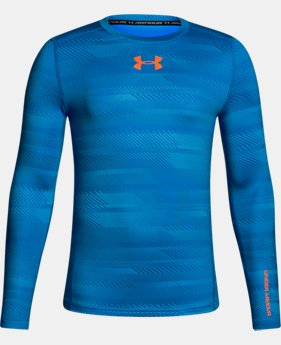 Boys' ColdGear® Armour Printed  Crew  3 Colors $33.74