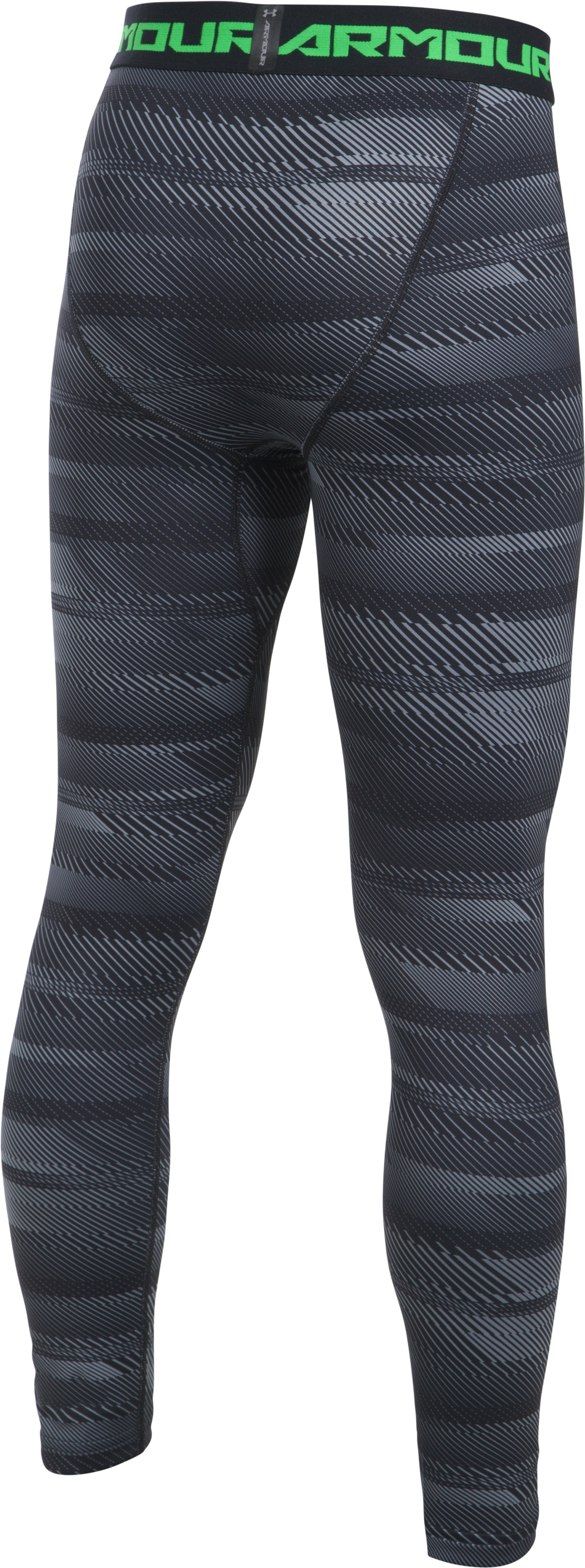 Boys' ColdGear® Armour Printed Leggings, Black , undefined