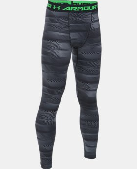 New Arrival  Boys' ColdGear® Armour Printed Leggings  2 Colors $49.99