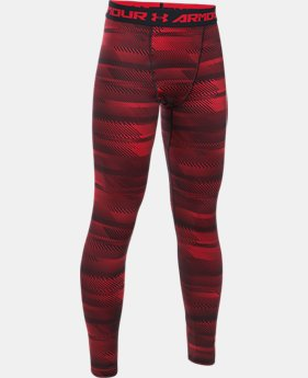 Boys' ColdGear® Armour Printed Leggings  3 Colors $33.74