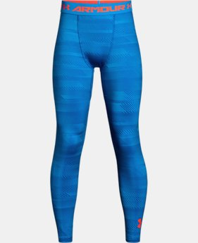 Boys' ColdGear® Armour Printed Leggings  2 Colors $44.99