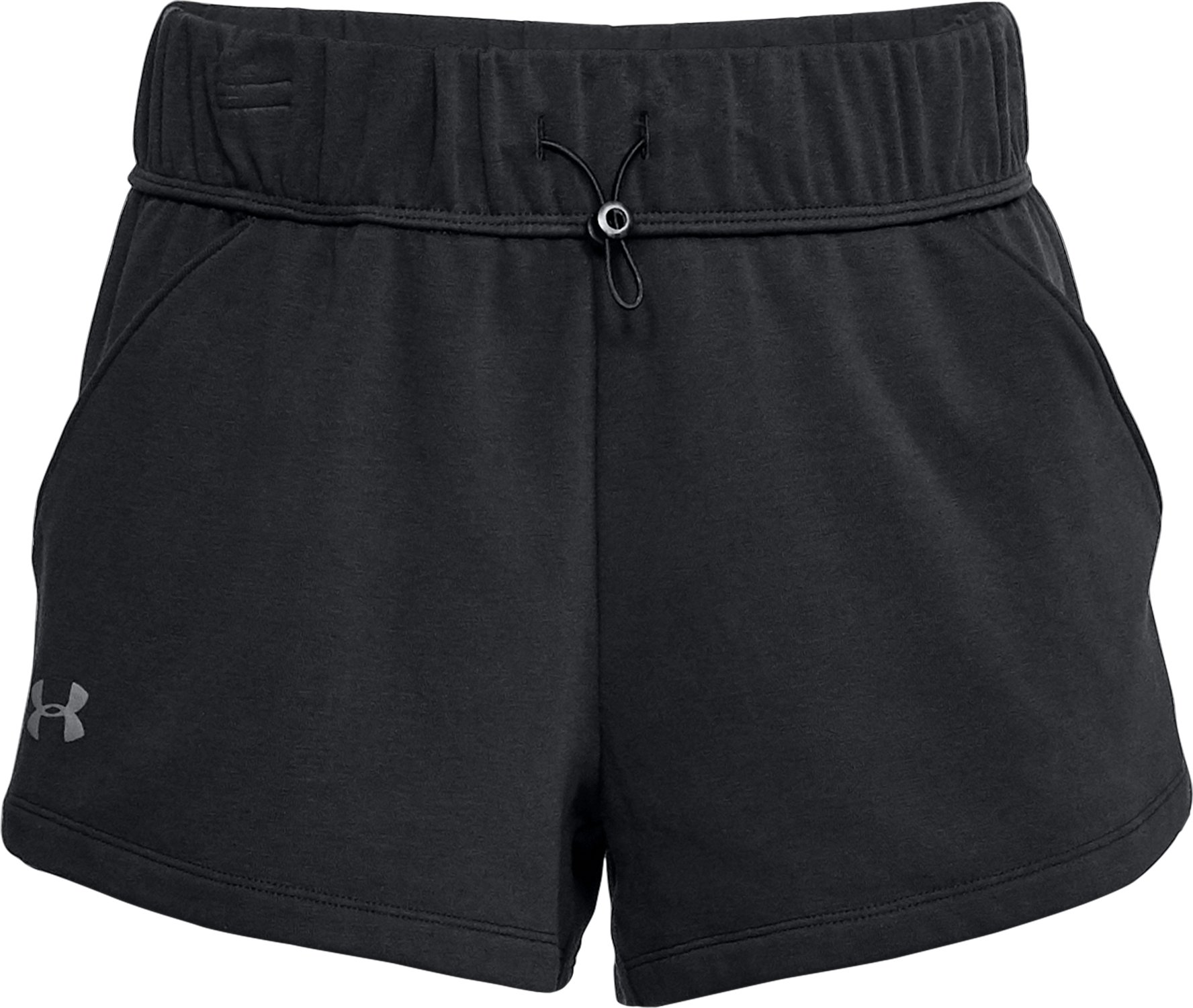 Women's UA Microthread Terry Shorts, Black ,