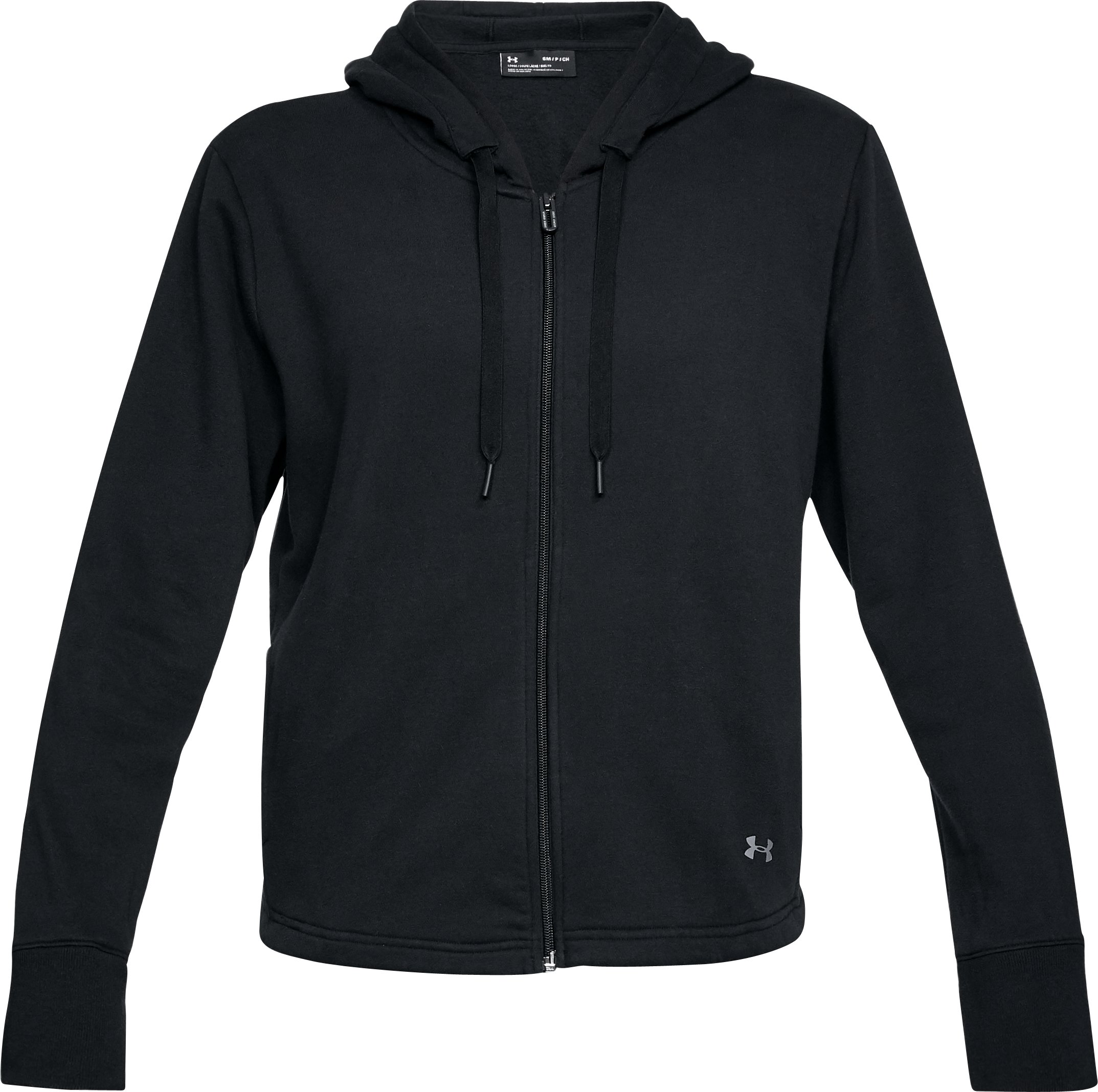 Women's UA Favorite Fleece Full Zip Hoodie, Black , undefined