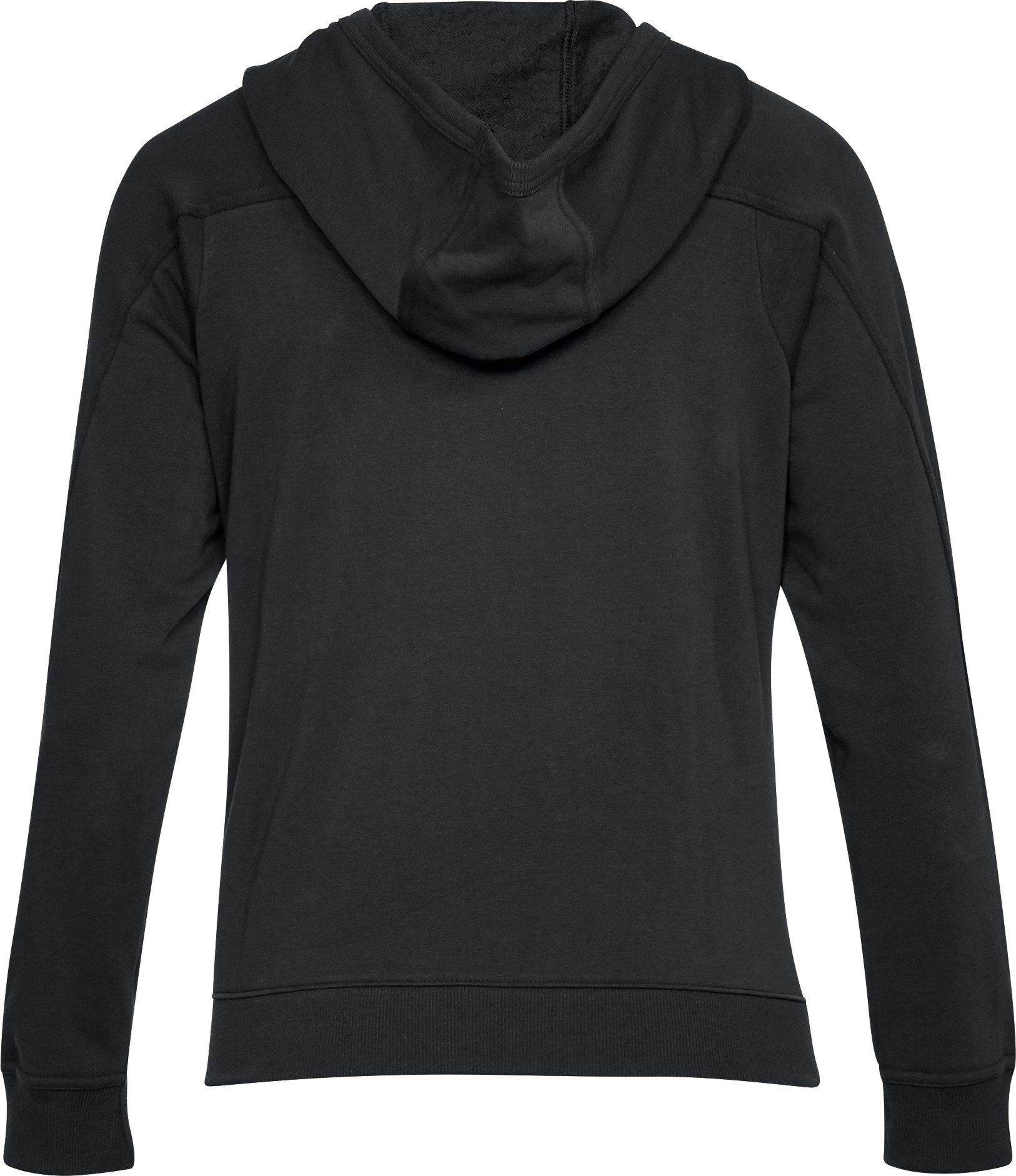 Women's UA Microthread Terry Hoodie, Black , undefined