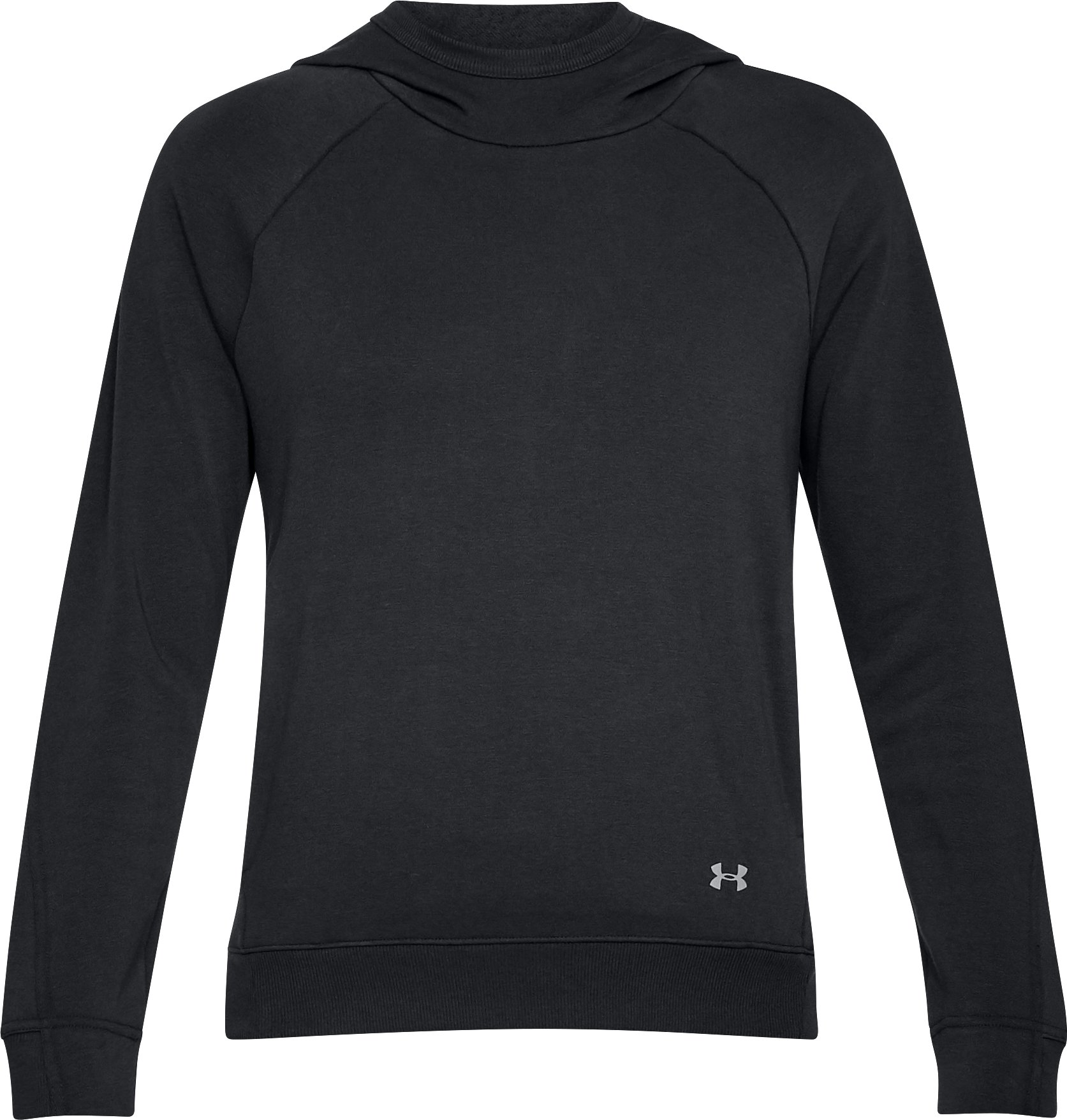 Women's UA Microthread Terry Hoodie, Black ,