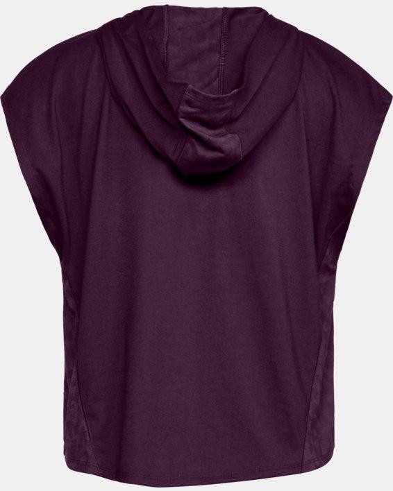 Women's UA Essentials Burnout Short Sleeve Hoodie, Purple, pdpMainDesktop image number 4