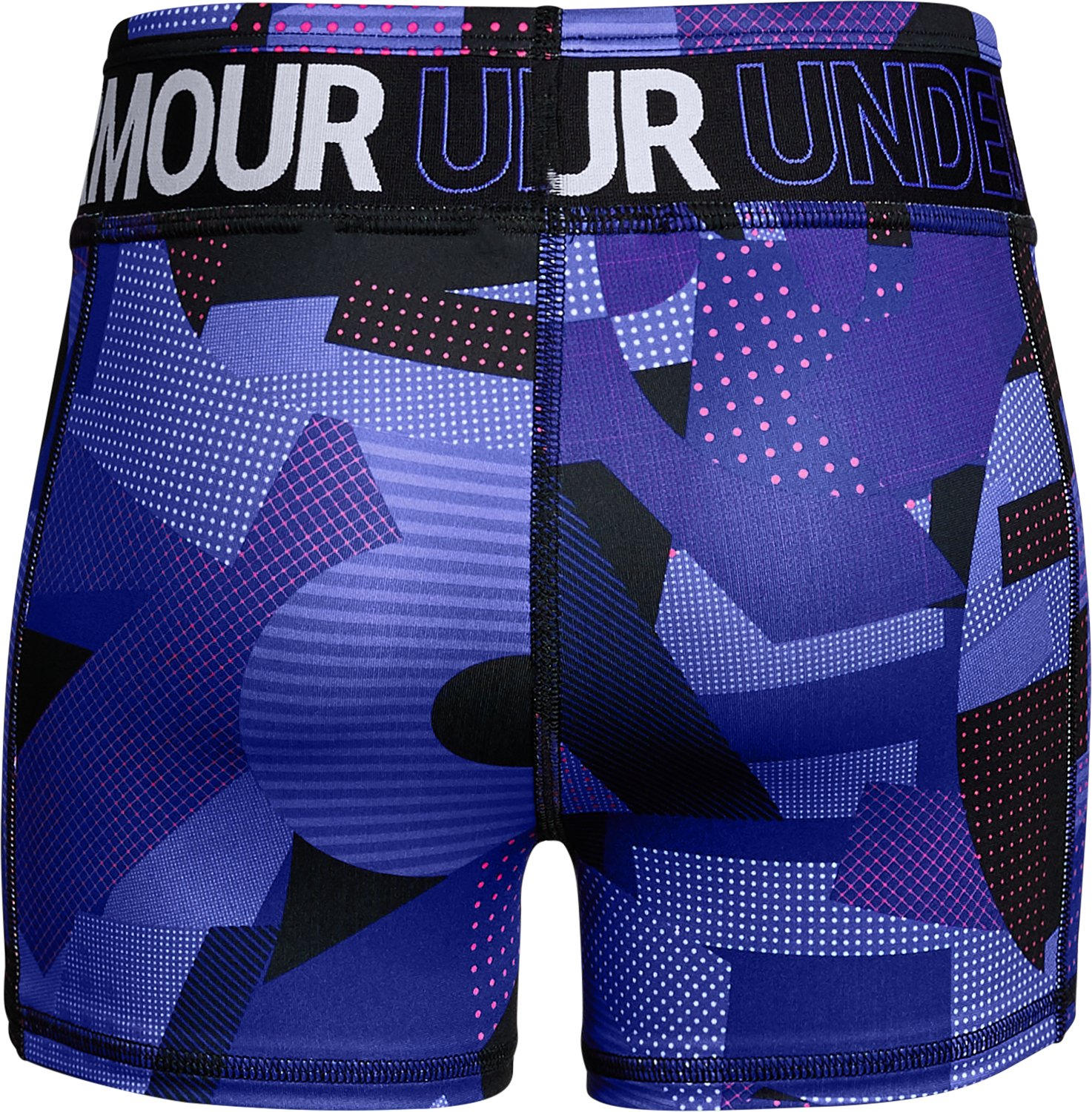 Girls' HeatGear® Armour Printed Shorty, CONSTELLATION PURPLE,
