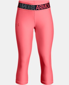 New Arrival Girls' HeatGear® Armour Capris LIMITED TIME: FREE U.S. SHIPPING  $30