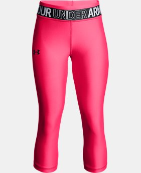 New Arrival Girls' HeatGear® Armour Capris  4 Colors $30