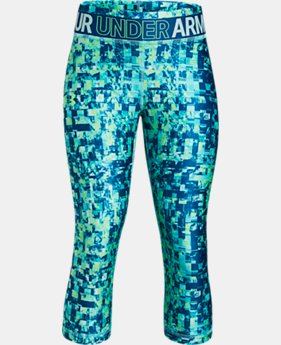 New Arrival Girls' HeatGear® Armour Printed Capris  2 Colors $35