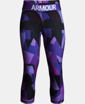 Girls' HeatGear® Armour Printed Capris  5  Colors $35