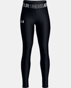 New Arrival  Girls' HeatGear® Armour Leggings LIMITED TIME: FREE SHIPPING  $45