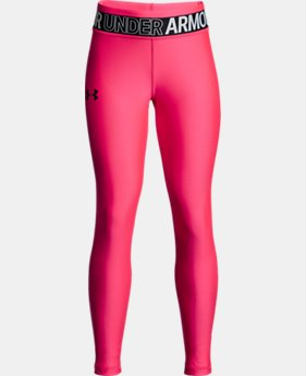 New Arrival Girls' HeatGear® Armour Leggings LIMITED TIME: FREE U.S. SHIPPING  $35