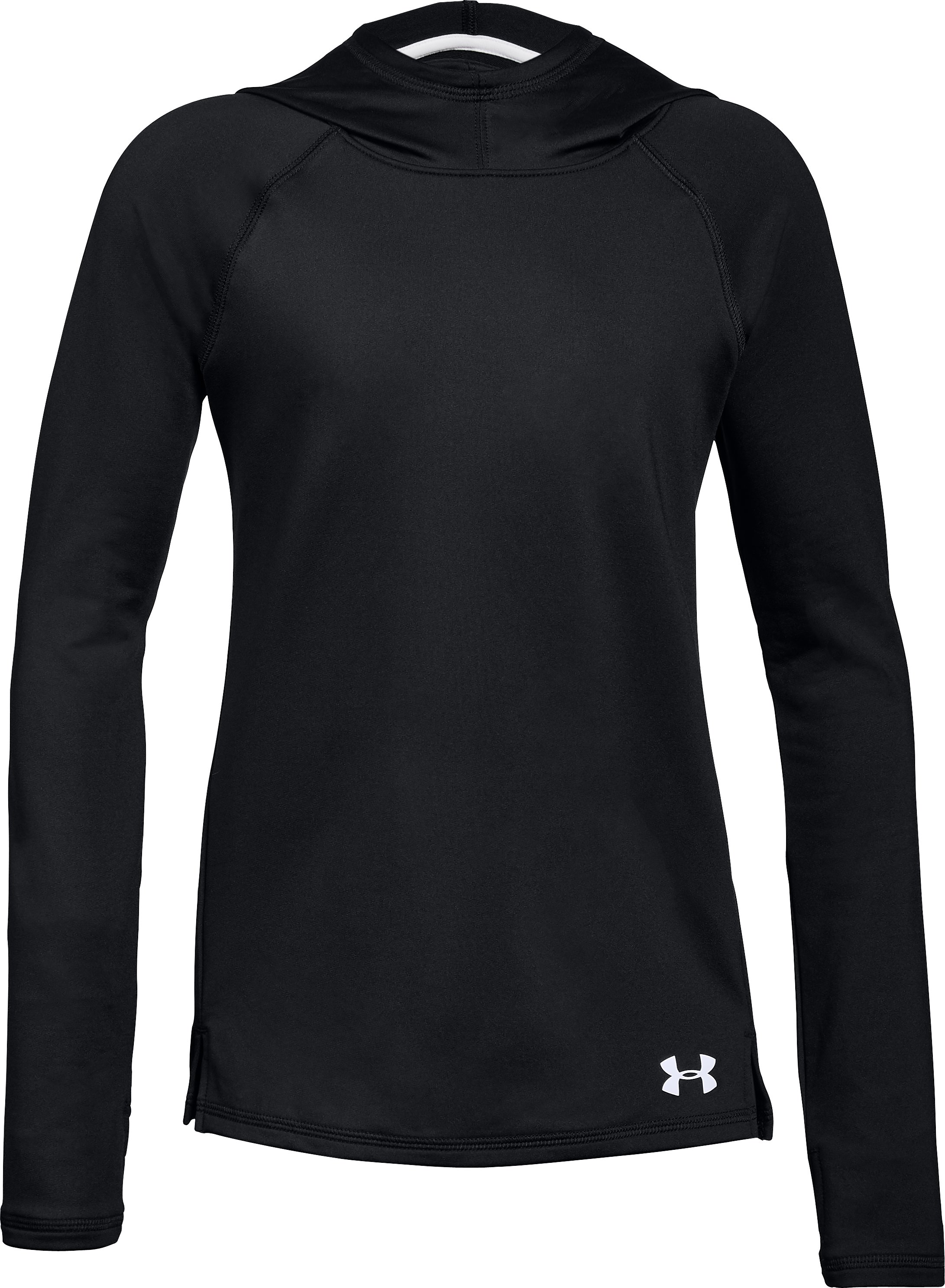 Girls' ColdGear® Armour Hoodie, Black , undefined