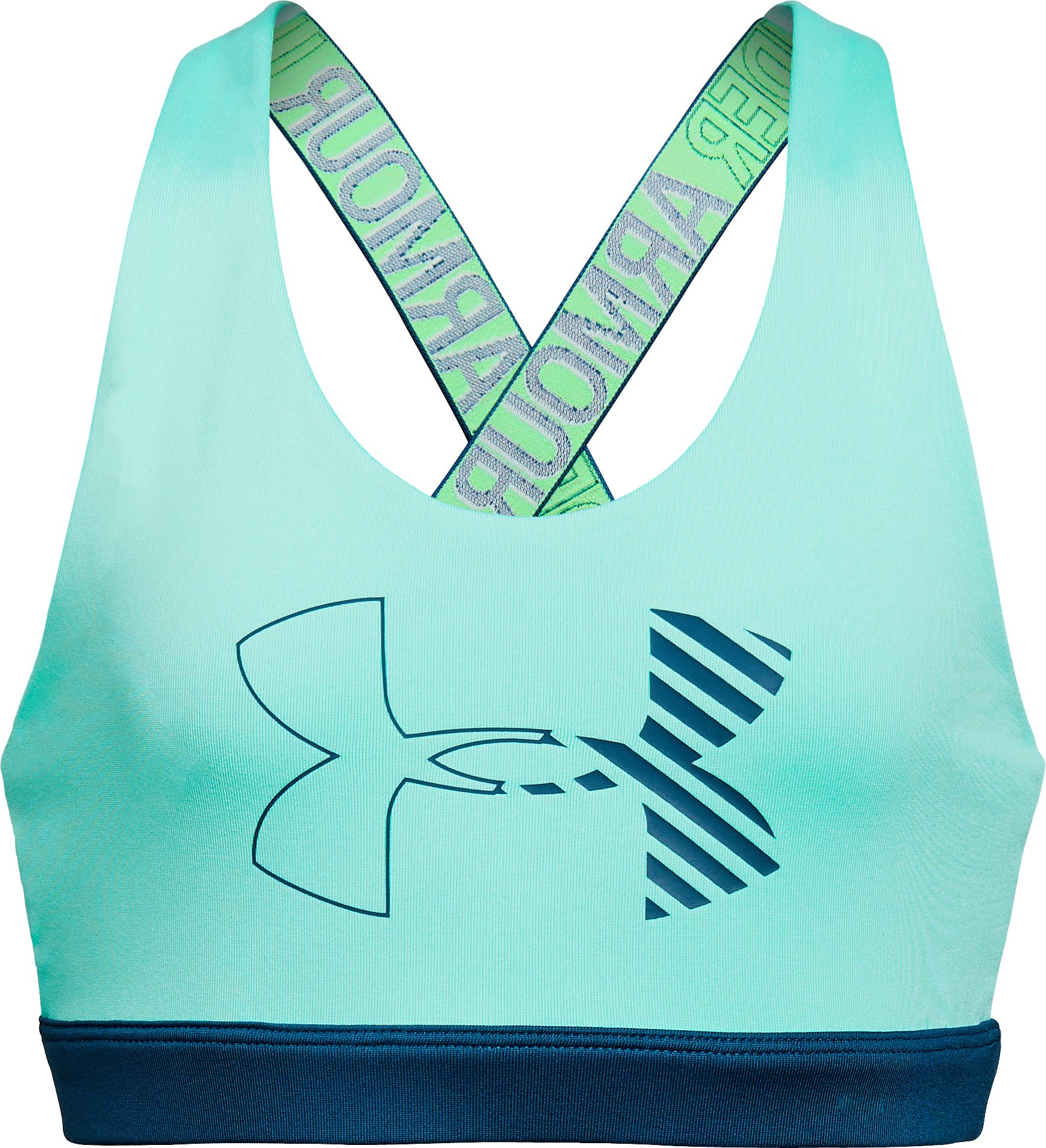 Girls' HeatGear® Armour Graphic Bra, TROPICAL TIDE, undefined