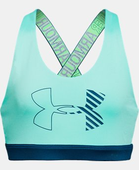 Girls' HeatGear® Armour Graphic Bra   $25