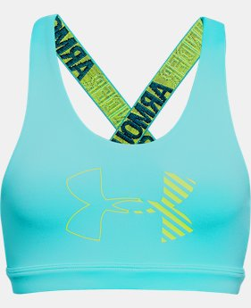Girls' HeatGear® Armour Graphic Bra  1  Color Available $18.75