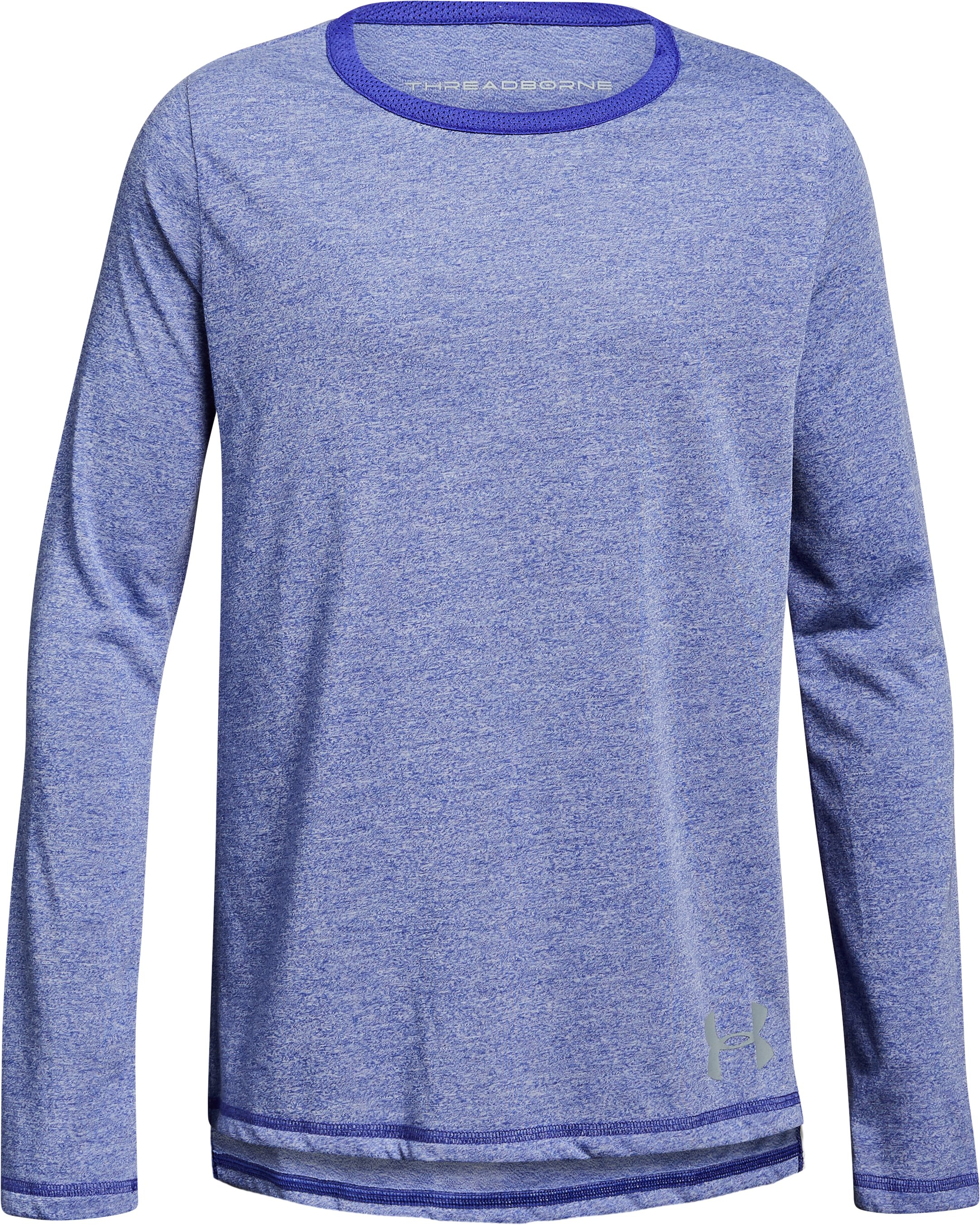 Girls' UA Siro Long Sleeve, CONSTELLATION PURPLE FADE HEATHER,
