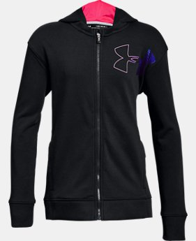 New Arrival Girls' UA Microthread Terry Full Zip Hoodie  1 Color $50