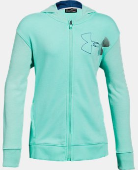 Girls' UA Microthread Terry Full Zip Hoodie  1  Color Available $50