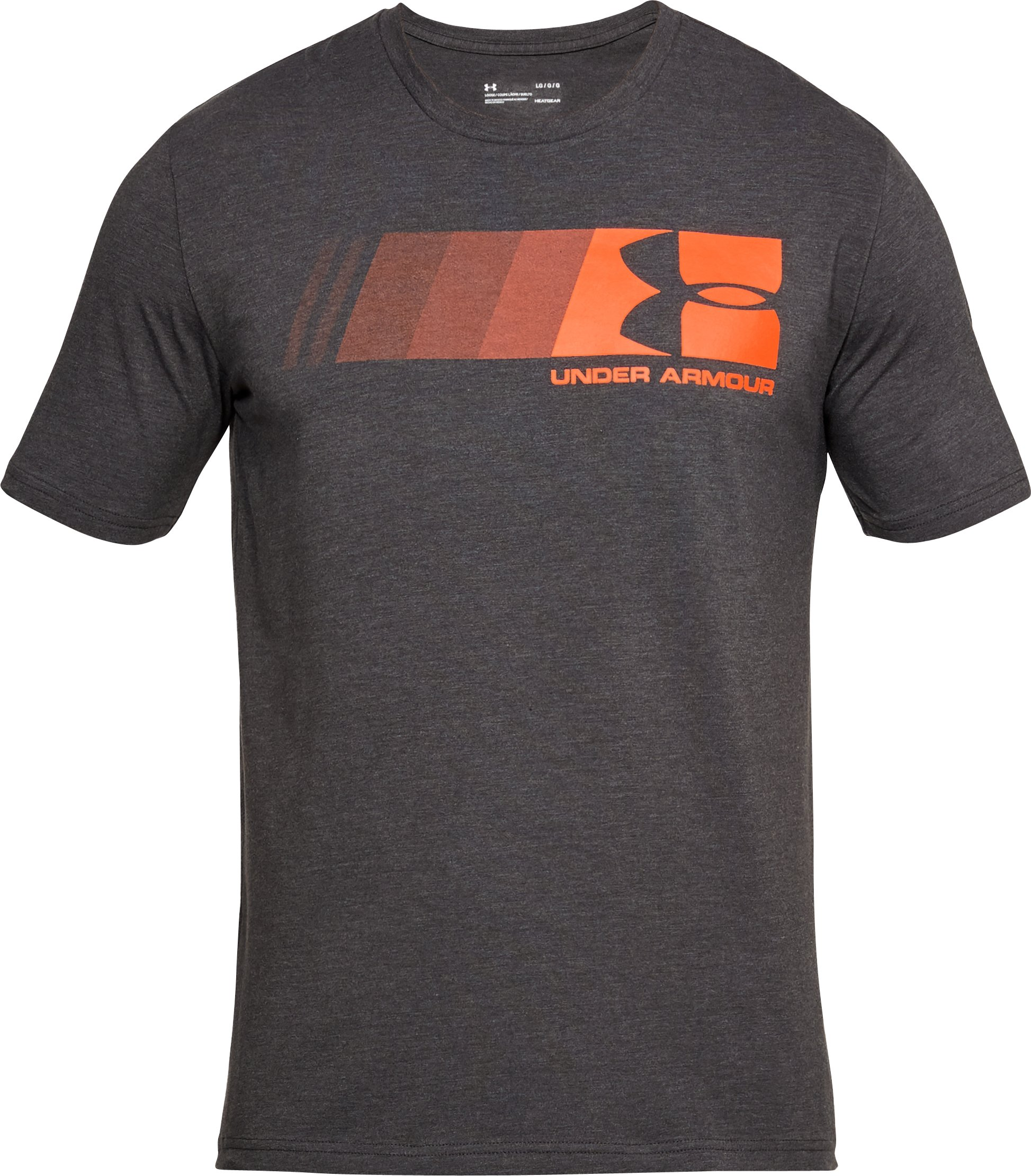 Men's UA Fast Left Chest Logo T-Shirt, CHARCOAL MEDIUM HEATHER,