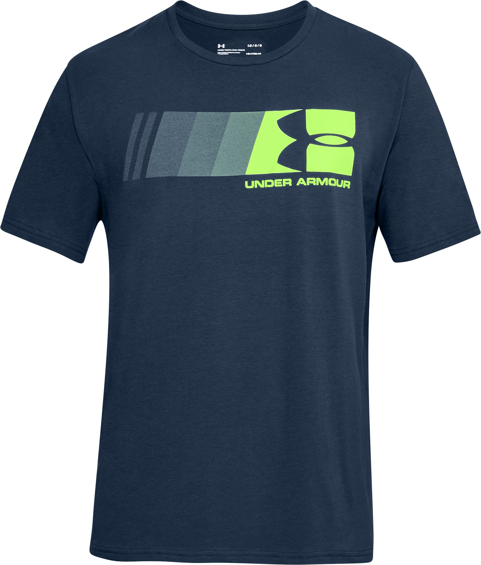 Men's UA Fast Left Chest Logo T-Shirt, Academy, undefined