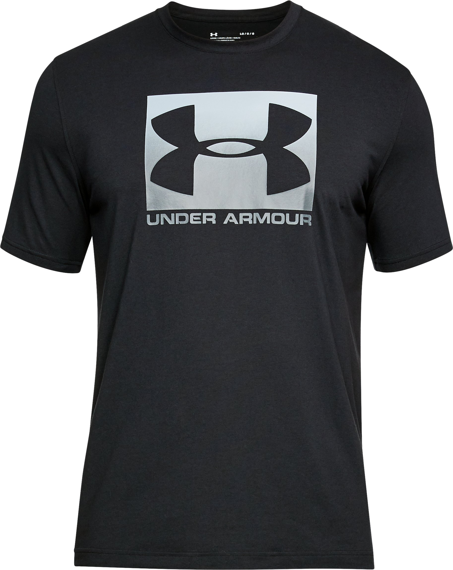 Men's UA Boxed Sportstyle T-Shirt, Black , undefined