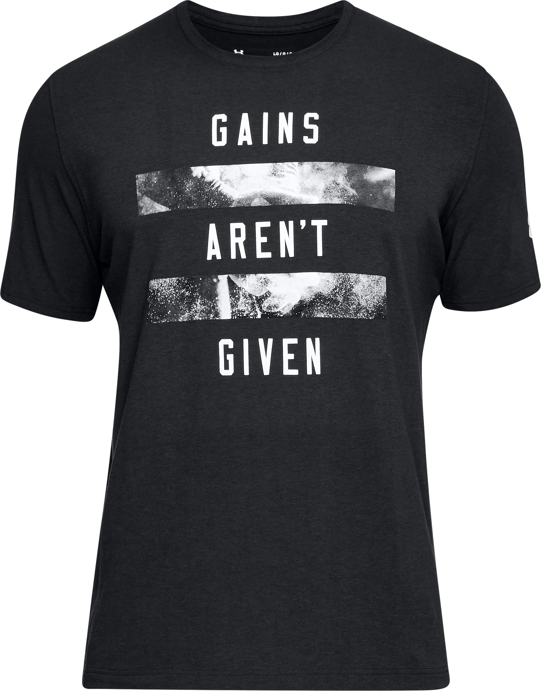 Men's UA Gains Aren't Given T-Shirt, Black , undefined
