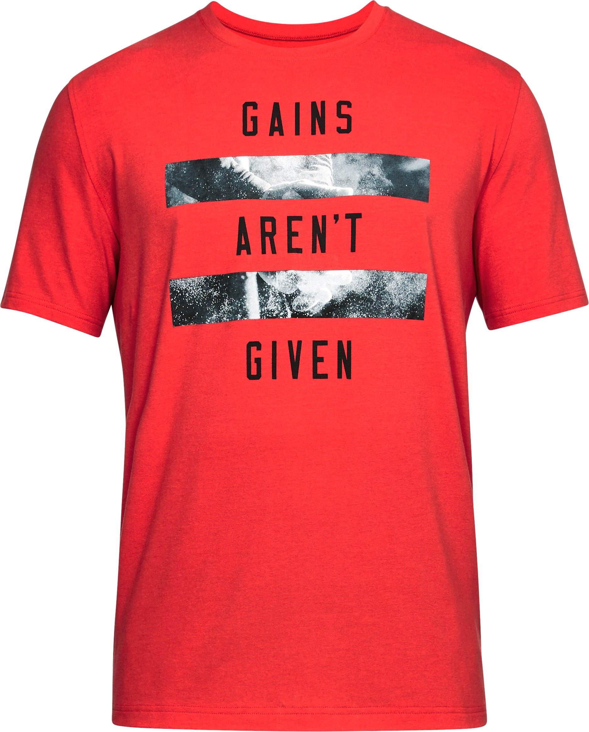 Men's UA Gains Aren't Given T-Shirt, Red,
