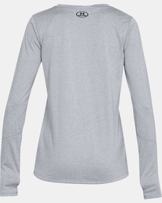 Women's UA Locker 2.0 Long Sleeve, Gray, pdpMainDesktop image number 4