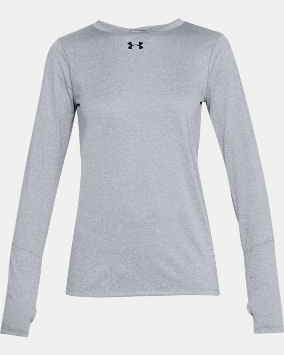 Women's UA Locker 2.0 Long Sleeve, Gray, pdpMainDesktop image number 3