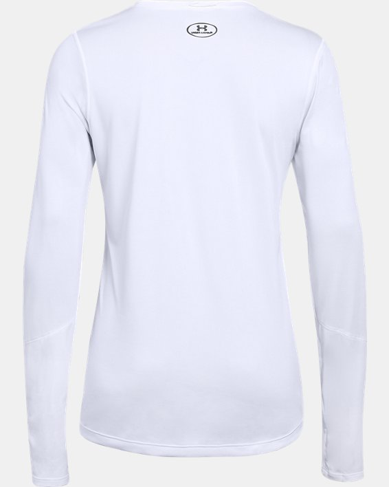 Women's UA Locker 2.0 Long Sleeve, White, pdpMainDesktop image number 4
