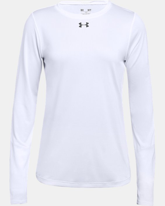Women's UA Locker 2.0 Long Sleeve, White, pdpMainDesktop image number 3