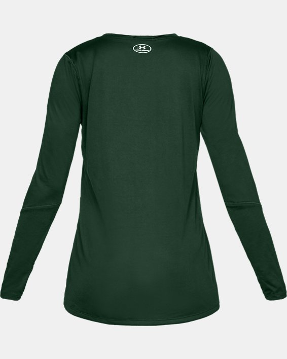 Women's UA Locker 2.0 Long Sleeve, Green, pdpMainDesktop image number 4