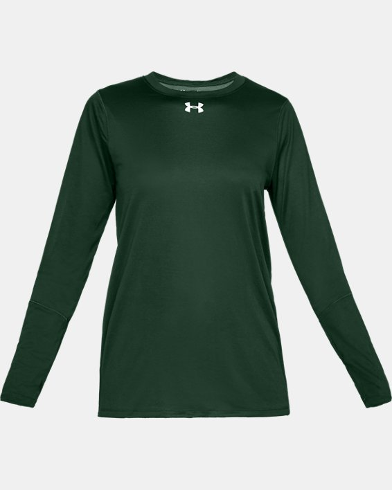 Women's UA Locker 2.0 Long Sleeve, Green, pdpMainDesktop image number 3