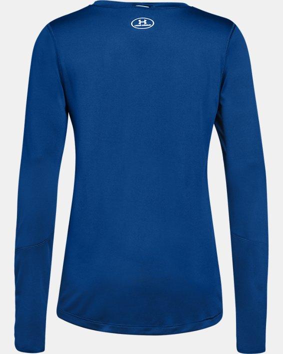 Women's UA Locker 2.0 Long Sleeve, Blue, pdpMainDesktop image number 4
