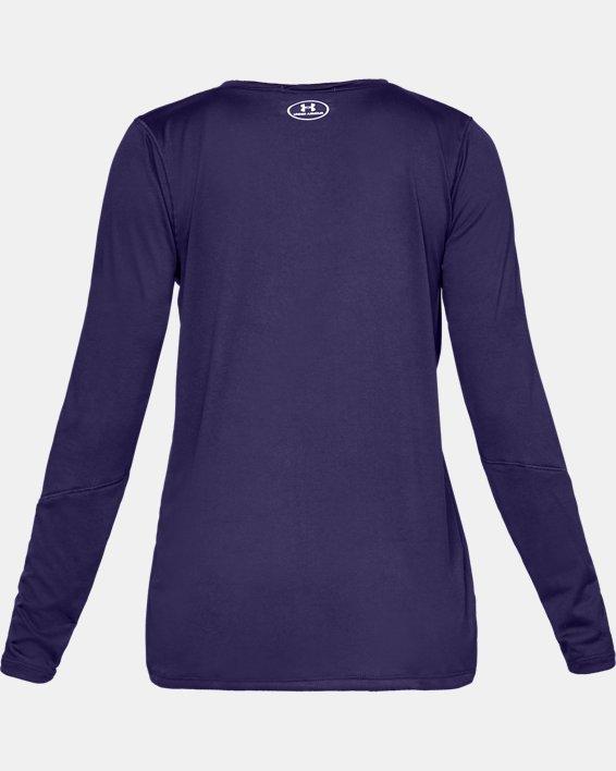 Women's UA Locker 2.0 Long Sleeve, Purple, pdpMainDesktop image number 4