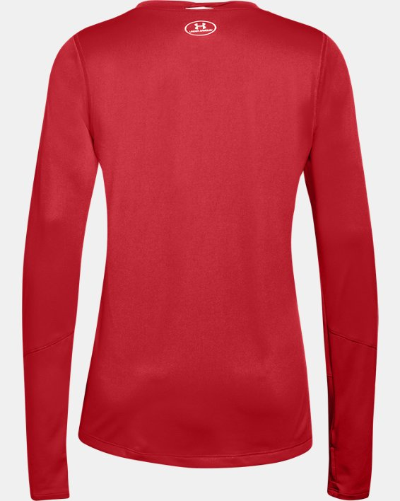 Women's UA Locker 2.0 Long Sleeve, Red, pdpMainDesktop image number 4