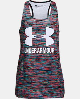 Girls' UA Big Logo Slash Tank  1  Color Available $28