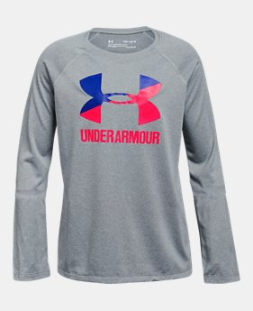 006ed09ea Girls' UA Big Logo Long Sleeve 2 Colors Available $20.99