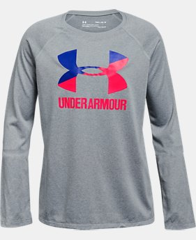 Girls' UA Big Logo Long Sleeve  3  Colors Available $30
