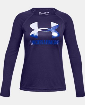 Girls' UA Big Logo Long Sleeve  1  Color Available $25