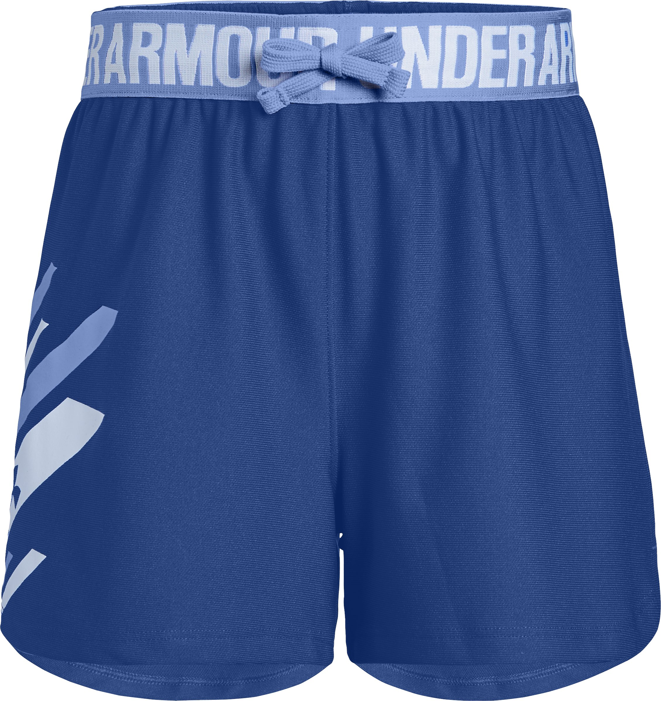 Girls' UA Play Up Graphic Shorts, FORMATION BLUE