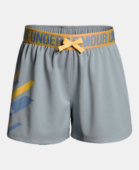 299a09241fa Girls  UA Play Up Graphic Shorts 1 Color Available  22.5