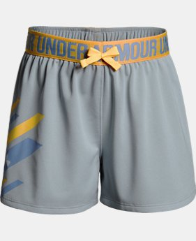 Girls' UA Play Up Graphic Shorts LIMITED TIME: FREE SHIPPING 1  Color Available $30