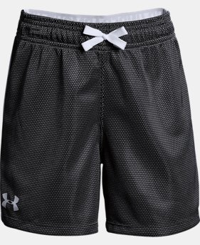 Girls' UA Center Spot Shorts  1  Color Available $25
